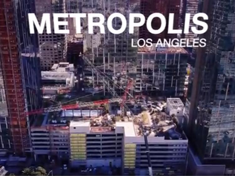 Metropolis Crane Dismantle in Downtown LA